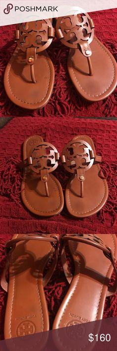 Tory Burch Millers Like new Tory Burch Millers in the vintage vachetta leather color. Everything is perfect just a small scuff on one of the sandals as shown on picture 4. You will love this sandals❤️No box or dust bag!! Tory Burch Shoes Sandals