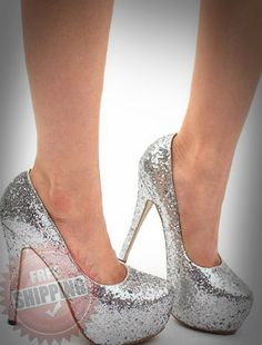 Sexy Women's 5 Inch High Heel Pump Silver