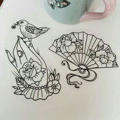 Traditional Old School Tattoo Flash Girly Tattoos, Flower Tattoos, Body Art Tattoos, Sleeve Tattoos, Cool Tattoos, Girly Sleeve Tattoo, Tattoos Pics, Flash Tattoos, Feminine Tattoos
