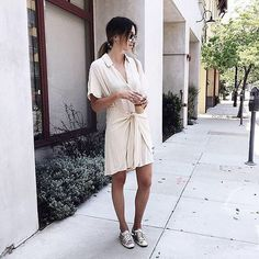 Obsessed with this Light Crepe T-shirt Dress from #forever21 #f21threadscreen #ootd