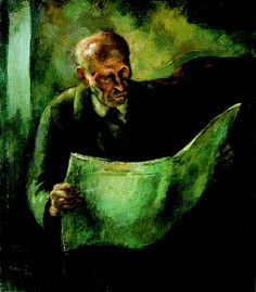 Man Reading (The Portrait of the Artist's Father) 1923 Painting Post Impressionism, Oil Painting Reproductions, Hanging Art, New Artists, Your Paintings, Lovers Art, Painting & Drawing, Oil On Canvas, Fine Art
