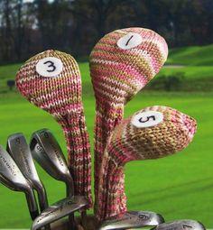 Knit Golf Club Covers