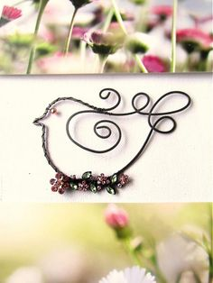 Rozkvitnutý by astra - SAShE.sk - Handmade Dekorácie wire bird