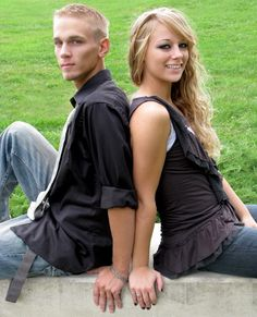 teenage brother and sister poses for outside pictures | sisters