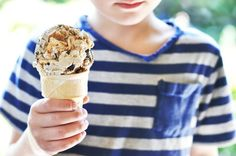 S'mores Ice Cream.  Burnt marshmallow ice cream with s'more chunks.  Hello, love at first sight.
