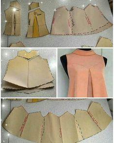 Ideas For Dress Pattern Free Sewing Moda Dress Sewing Patterns, Blouse Patterns, Clothing Patterns, Pattern Dress, Fashion Sewing, Diy Fashion, Ideias Fashion, Dress Fashion, Free Clothes