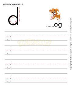 Small Letters D - esl-efl Worksheets - kindergarten Worksheets