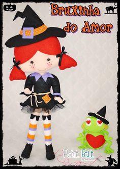 Bruxinha de Feltro - felt witch