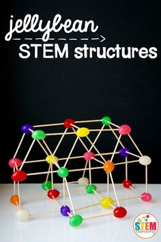 Jelly beans + toothpicks = an afternoon of engineering fun!