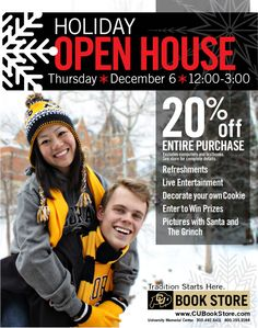 CU Book Store Holiday Open House!