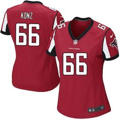 Nike NFL Atlanta Falcons #66 Peter Konz Limited Women Red Team Color Jersey Sale