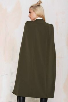 Lavish Alice On the Fly Cape Jacket - Green - Best Sellers | Back In Stock | Blazers + Capes