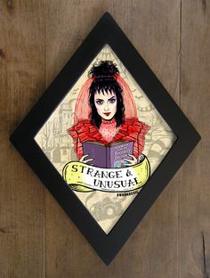 Lydia Deetz (Winona Ryder) from Beetlejuice Diamond framed print. Strange and unusual Horror Decor, Horror Art, Gothic House, Halloween House, My New Room, Halloween Decorations, Painting Frames, Illustration, Framed Prints