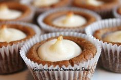 Gingerbread Cheesecake Bites--gingerbread is one of my loves. Use Pillsbury gingerbread dough for a simple, yet amazing treat.