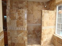 houzz walk in showers | Showers No Doors http://www.houzz.com/photos/mediterranean/showers ...