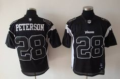 Vikings  28 Adrian Peterson Black Shadow Stitched NFL Jersey 17d5fb183