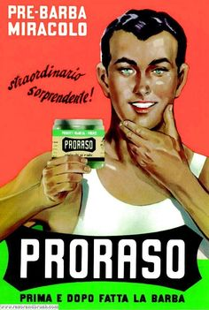 vintage Proraso ad, for the pre-shave cream