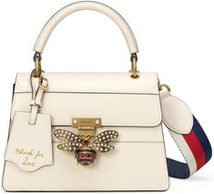 23b2208356e324 The Queen Margaret line mixes archival Gucci details with newly established  codes. The bee—first introduced in the enriched by glass pearls and  multicolor ...