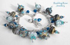 Blue beaded bracelet..