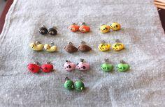 Mameshiba Earrings by DirtBloks on Etsy