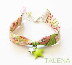Bracelet liberty étoile verte : Bracelet par talena