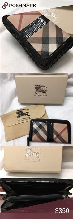 BURBERRY Wallet Authentic Burberry Excellent condition! Come with everything in the pictures. Barely used cause it's little too big for me to use as everyday wallet. Time to find it a new home :) Burberry Bags Wallets