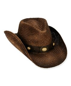 c9177831b92 Another great find on  zulily! Brown Embellished Cowboy Hat by Sun  N