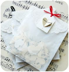 Flutter - Vintage Music Sheet Confetti by Passerine