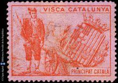 Temes-Visca Catalunya :: Segells del Pavelló de la República (Universitat de Barcelona) Vintage World Maps, Painting, Art, Art Background, Painting Art, Kunst, Paintings, Performing Arts, Painted Canvas