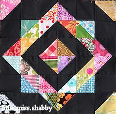 Like this idea - from LynnBob Square Pants block pattern #quilting #quiltblock