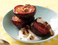roasted plums w/ yogurt         Roasted Plums with Greek Yogurt Recipe  at Epicurious.com