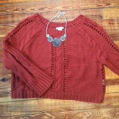 Bar II Sweater Bar II sweater rust colored super cute size s Bar III Sweaters