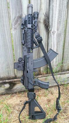 2016 Romanian Draco 7.62x39 Pistol with SB Tactical SOB47.