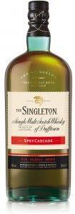 €24,95 Singleton of Dufftown Spey Cascade,  is een smakelijke whisky gerijpt op zorgvuldig gekozen eikenhouten vaten. De rijke, zoete en fruitige aroma's van gebakken appels en geroosterde noten, maken plaats voor eclatante smaken van eikenhout, donkere chocolade en een lichte kruidigheid. De master blender van de Singleton of Dufftown selecteerde handmatig elk geschikt vat en heeft op deze manier een perfect uitgebalanceerde whisky weten te creëren.