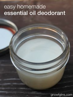 easy homemade essential oil deodorant that smells good, works (even combating stress-sweat, intense exercise, and hot, humid summer days) Essential Oil Deodorant, Homemade Deodorant, Natural Deodorant, Deodorant Recipes, Homemade Essential Oils, Young Living Oils, Young Living Essential Oils, Stress Sweat, Sent Bon