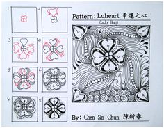 Luheart Zentangle doodles how to Tangle: Pattern Tutorial #Tutorial #zentangle #tangle Zentangle Steps | ZenTangle Instructions /Steps /How To /Patterns / Tags: tangle zentangle zendoodle tanglepattern zentangleinspiredart