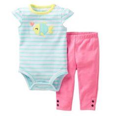 Carter's Striped Fish Bodysuit Set - Baby