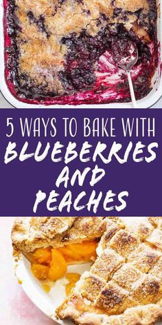 It's the sweetest time of the year when blueberries and peaches are in season! From cobbler to cakes and pies we've teamed up with to share our favorite ways to bake with blueberries and peaches. Just Desserts, Delicious Desserts, Baking Recipes, Whole Food Recipes, Bath Bomb Ingredients, Blueberry Cobbler, Good Food, Yummy Food, Simply Recipes