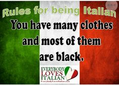 Italy: the land where people live in bright orange houses and wear all black