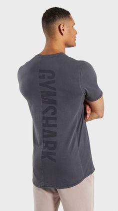 ce3cbd84 Gymshark Laundered T-Shirt - Charcoal
