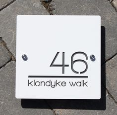 Large Square House Number Sign 200mm x 200mm x 6mm Original and Unique Laser Cut Bespoke/Customised with Road Name Laser Cut Design