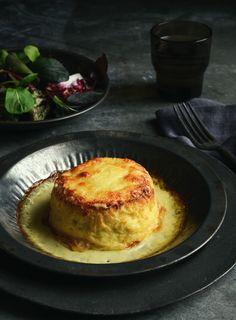 Twice Baked Cauliflower Soufflé