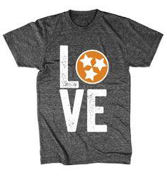 Tennessee flag shirt - orange by LittleLetterCompany on Etsy https://www.etsy.com/listing/203285633/tennessee-flag-shirt-orange