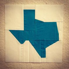 Texas quilt block #quiltcon by okiegirl97, via Flickr...got to be a better/cleaner way to make this