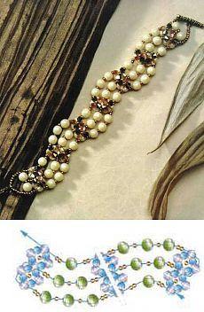 "Elegant Bracelet ""Ivory Coast"", beaded bracelet scheme, | Laboratory household"