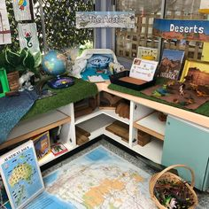 Science investigation area - habitats 😍 via Science Area Preschool, Preschool Rooms, Science Curriculum, Preschool Education, Investigation Area, Investigations, Curiosity Approach Eyfs, Year 2 Classroom, Daycare Spaces