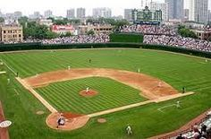 Wrigley Field in Chicago, Illinois. It opened in 1914 and is It is the home of the Major League baseball team Chicago Cubs. Baseball Park, Chicago Cubs Baseball, Baseball Gifts, Baseball Poems, Baseball Season, Espn Baseball, Baseball Pitching, Tigers Baseball, Baseball Field Dimensions