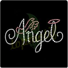Angel Rhinestone Designs Transfer for Tees Decoration