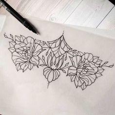 found via Bing: Lower Sternum Design Female Tattoos | 1000+ ideas about Sternum Tattoo Design on Pinterest | Mandala sternum ...