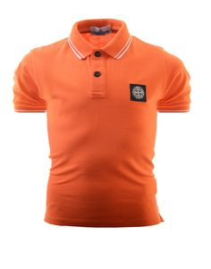 4476c58e Terraces Menswear · Terraces Junior · Stone Island Junior Tipped Polo Shirt  Orange